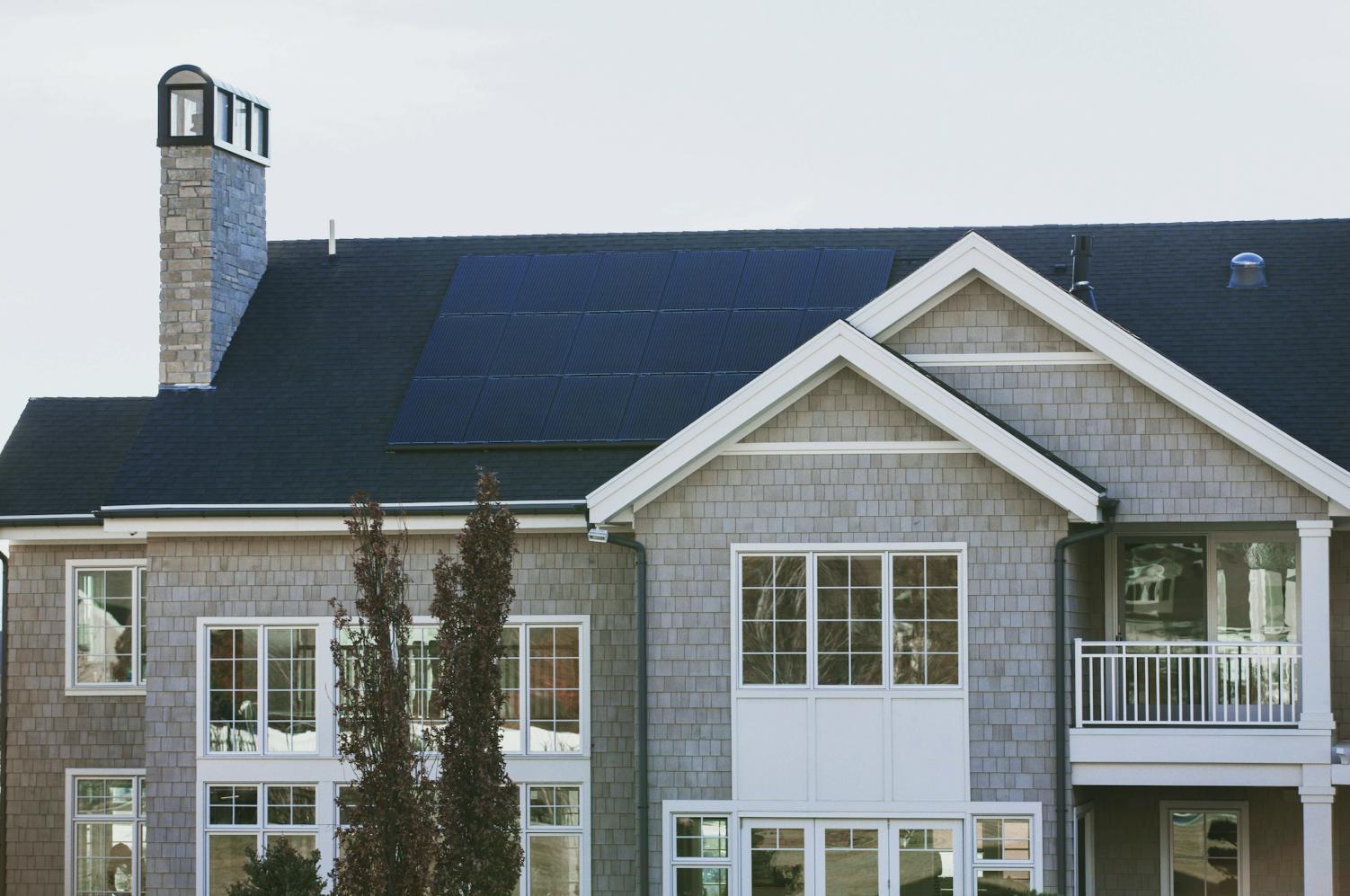 solar panels home image